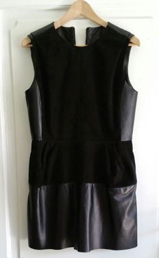 Louis Vuitton leather black dress