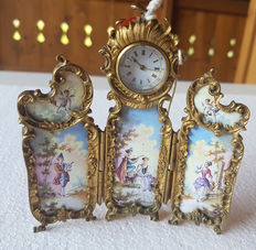 Pocket watch Paravan - enamel painting - Vienna 1860