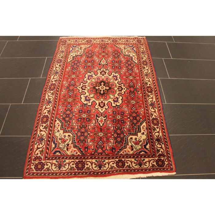 perser teppich rosen bidjar wolle 160x103cm made in iran um 1950 carpet tappeto tapis old rug. Black Bedroom Furniture Sets. Home Design Ideas