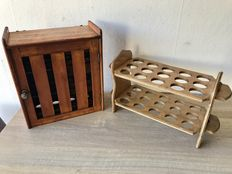 Antique egg box and egg rack