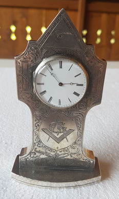 Pocket watch (table clock) - engraving - Switzerland 1880