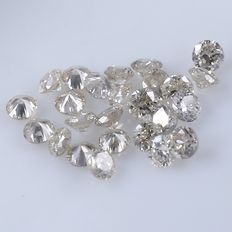 25 Round Brilliant Diamonds – 0.30 ct. - *** NO RESERVE ***