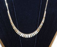 Cleopatra necklace in 18 kt yellow and white gold - length 46 cm
