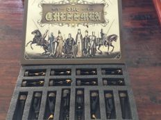 Beautiful chess set, theme 'Ancient Egypt'  Plus antique travel chess set, 1925