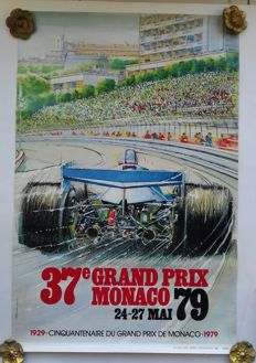 Original poster of the Grand Prix Automobile of Monaco - 1979