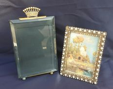 Lot of 2 photo frames in Bronze Liberty France-1920 Circa.