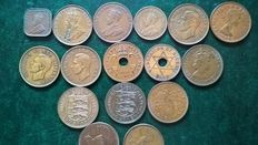 United Kingdom and Commonwealth - Lot various coins (132 pieces) including 8x silver