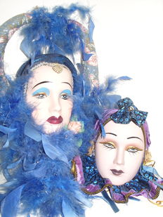 Two beautiful Venetian masks