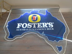 Beer - Foster's Australia's Famous Beer - advertising sign for hanging, with lights - Ca. 2010