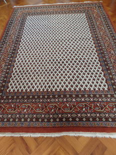 Hand-knotted Indo-Mir carpet, 202 x 255 cm