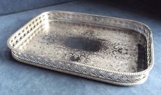 Antique English Georgian silver tray