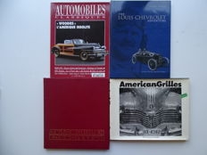 AMERICAN GRILLES, Louis CHEVROLET Adventure, Automobile Connoisseur, Automobiles Classiques - Mixed lot of 4 books featuring mostly American cars & more
