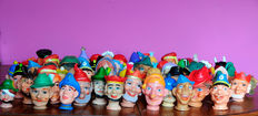 Vintage hand puppets heads