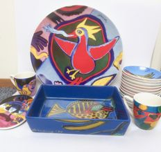 Corneille - (oven)-dish, cups and coasters