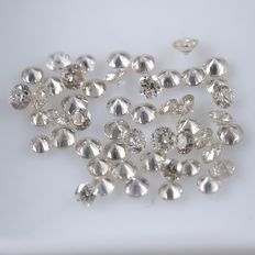 50 Round Brilliant Diamonds – 0.38 ct. - *** NO RESERVE ***