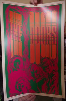 The Doors - Saladin Headshop, Los Angeles Poster 1967. Original. Nr Mint.