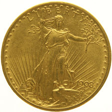 United States - 20 Dollars Saint Gaudens 1908 gold