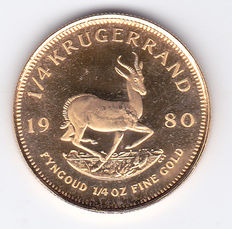 South Africa – 1/4 Krugerrand 1980 – 1/4 ounce of gold