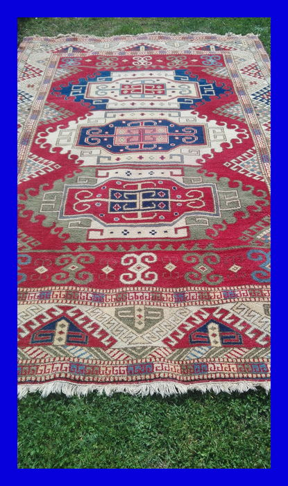 Turkish Carpet, Kars, 300 x 205 cm On offer is a very beautiful, magnificent Turkish KARS