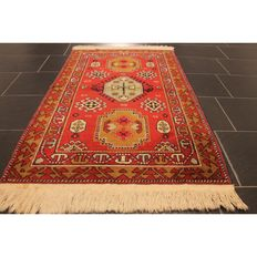Old handwoven Oriental carpet, Derbeng Kazak Kasak, 185 x 126 cm around 1960, Tappeto carpet rug Tapis Tapijt