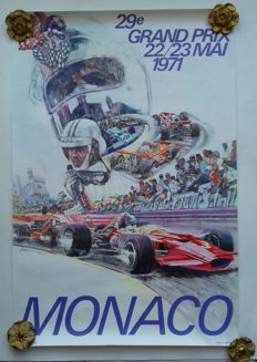 Original poster of the Grand Prix Automobile of Monaco