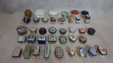 collection of 38 miniature boxes