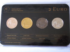 Germany - 2 Euro 2013 'Precious Metal Set - Maulbronn Monastery' (4 plated coins)