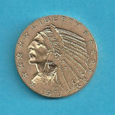 "United States – 5 Dollars 1911 ""Indian Head"" – Gold"
