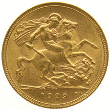 South Africa – Sovereign 1929 – George V – gold