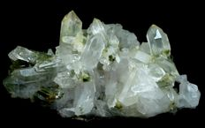 Damage Free & Terminated Green Chlorite included Quartz Crystal Cluster - 72 x 72 x 132 mm - 406gm