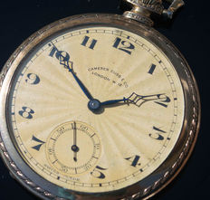 Art Deco gold plated pocket watch 15 jewels