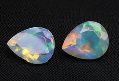 Two Opals - 2.77 ct total