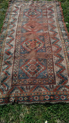Kazak old rug carpet  oriental hand-knotted!!caucasian rug!!