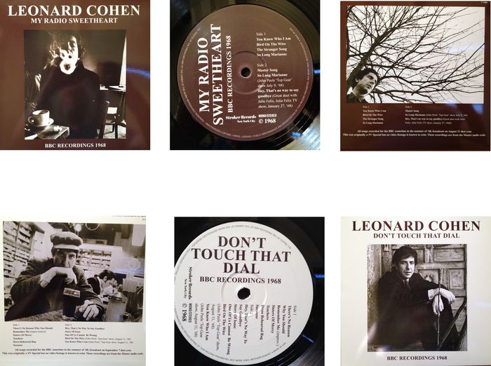 """Leonard Cohen 2 LP Set  """"Don't Touch That Dial""""  &  """"My Radio Sweetheart"""""""