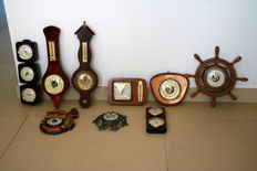 Collection of 9 barometers.