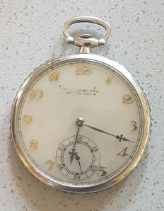 Inter Watch Geneve – pocket watch with sapphire ring – around 1930