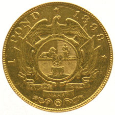 South Africa - pound 1898, gold