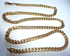 8kt yellow gold gourmet link necklace for men's
