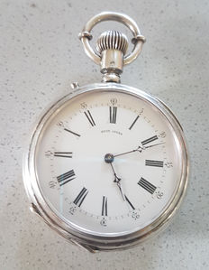 Pocket watch Switzerland around 1880 a solid silver Lepine - 8 day movement
