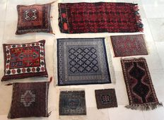 Rugs and pillows from Iran, Afghanistan and Pakistan – Various pieces – circa 1980