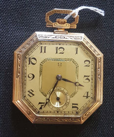 Omega – octagonal Lepine pocket watch – Switzerland around 1920