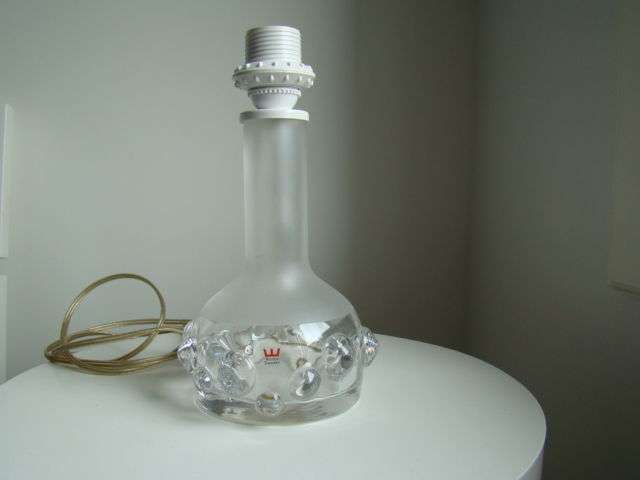 Ove Sandeberg for Kosta Boda – crystal design lamp base