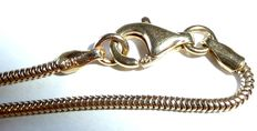 14 kt / 585 yellow gold necklace, snake chain, 44 cm long