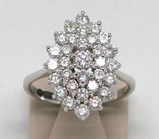 Diamond cluster ring 2,00ct.