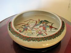 Coloured porcelain crackleware dish – China – late 19th/early 20th century
