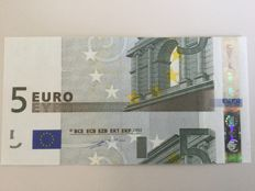 European Union - Germany - 5 Euros 2002 Duisenberg - intentionally wrong cut