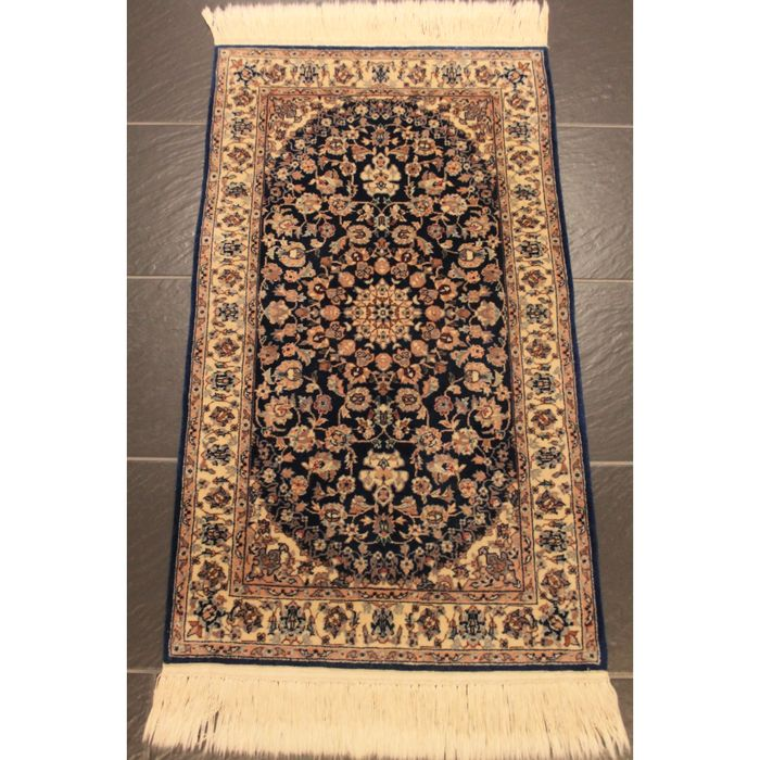 Hand Knotted Persian Isfahan Wool Area Rug: Royal Hand-knotted Persian Carpet, Isfahan, Cork Wool With
