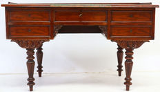 Mahogany desk with carving - Germany - ca. 1870