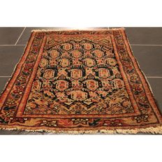 Persian carpet, Malayer, courier, 80 x 70 cm, made in Iran circa 1940, natural colours, tappeto tapis old rug carpet tapijt