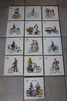 13 Gazelle tiles - from the 90s